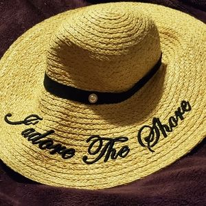 """Ted baker """"j'adore the shore"""" straw hat"""